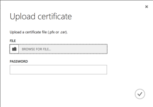 Certificate file picker