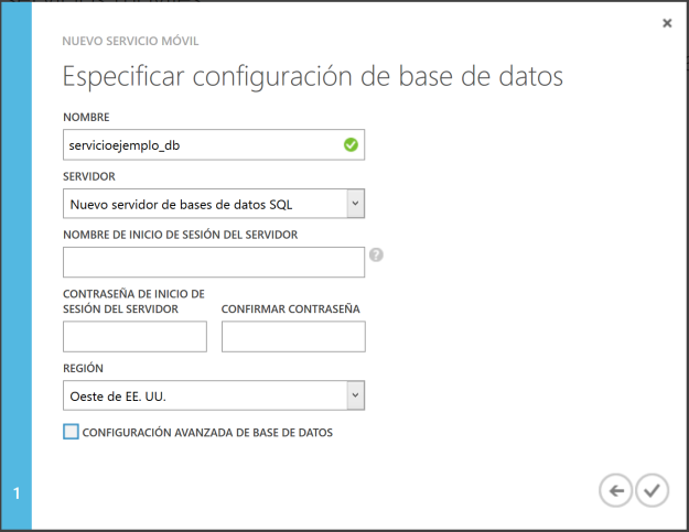 Nuevo servidor de base de datos