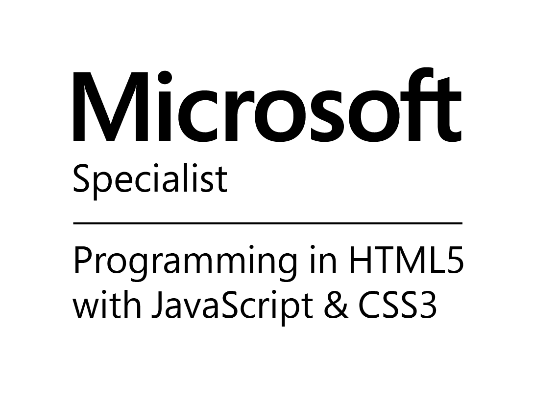 MS: Programming in HTML5 with JavaScript & CSS3