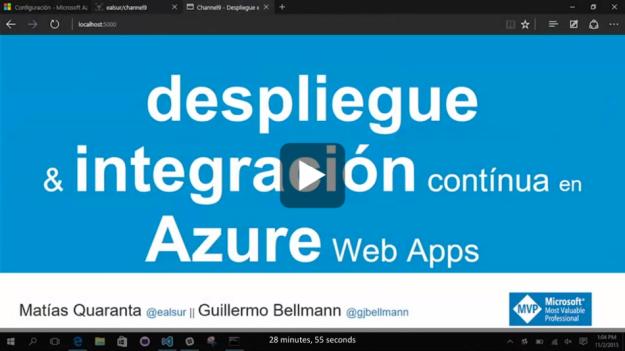 Despliegue e integración continua en Azure